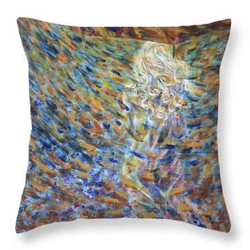 Through The Rain Throw Pillow