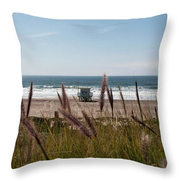 Through The Reeds Throw Pillow by Lorraine Devon Wilke