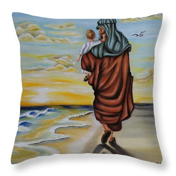 Through The Struggle Throw Pillow