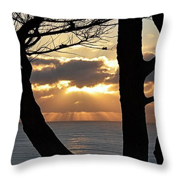 Through The Trees Throw Pillow by AJ Schibig