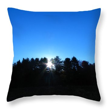 Through The Trees Brightly Throw Pillow