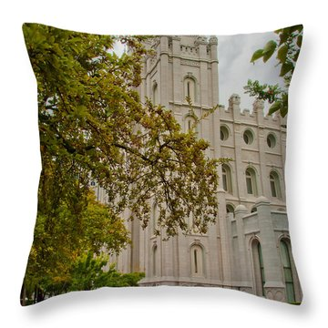 Through The Trees Throw Pillow by La Rae  Roberts