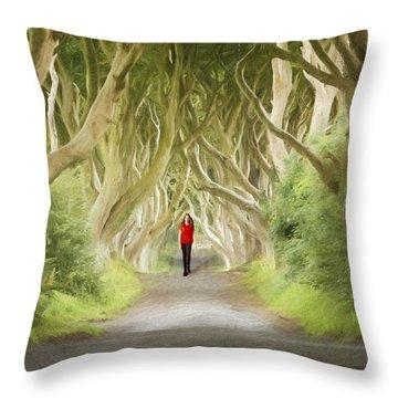 Through The Trees Throw Pillow by Roy  McPeak