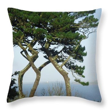 Through The Trees To Godrevy From St. Ives Throw Pillow