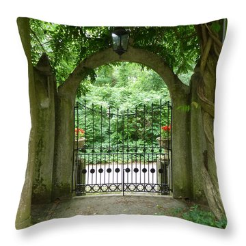 Through The Tuscan Gate Throw Pillow