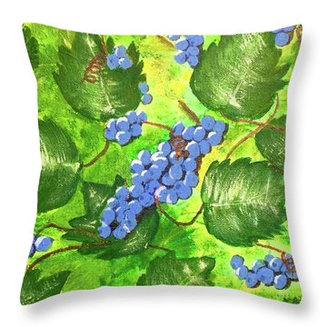 Through The Vines Throw Pillow by Cynthia Morgan