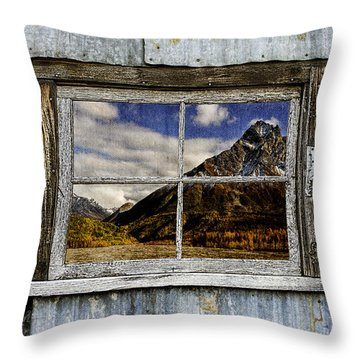 Through The Window Of The Past 2 Throw Pillow