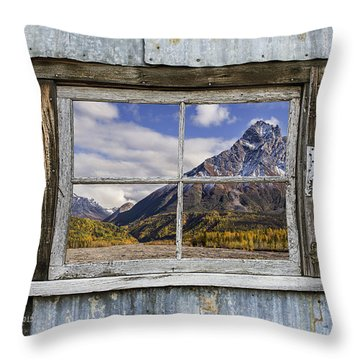 Through The Window Of The Past Throw Pillow
