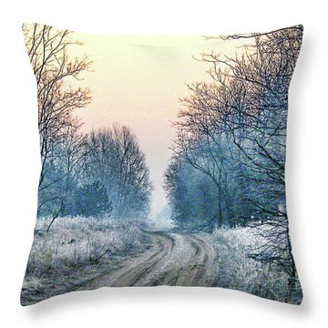 Through The Woods Throw Pillow by Mimulux patricia no No