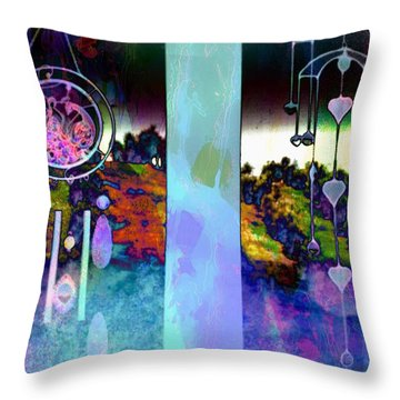 Through To The Groves Dusk Throw Pillow