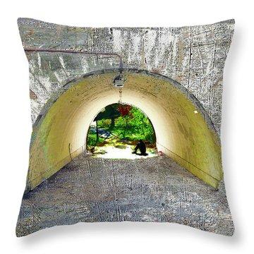 Throw Pillow featuring the mixed media Through by Tony Rubino