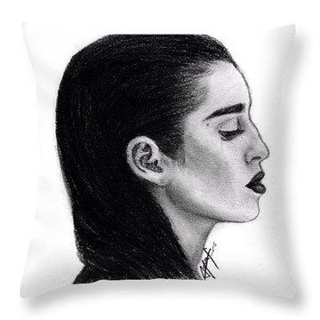 Lauren Jauregui Drawing By Sofia Furniel Throw Pillow