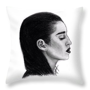 Lauren Jauregui Drawing By Sofia Furniel Throw Pillow