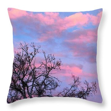#throwback To A #instaawesome #pink Throw Pillow