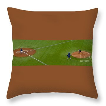 Throwing The First Pitch Throw Pillow