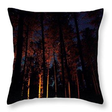 Thru The Dark Throw Pillow