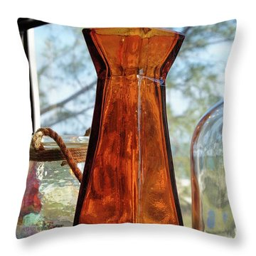 Thru The Looking Glass 1 Throw Pillow by Megan Cohen
