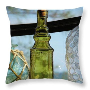 Thru The Looking Glass 3 Throw Pillow by Megan Cohen