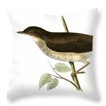 Thrush Nightingale Throw Pillow