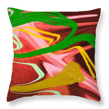 Thrust Throw Pillow by Allan  Hughes