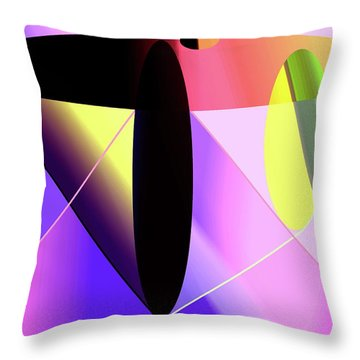 Thrust Throw Pillow by Helmut Rottler