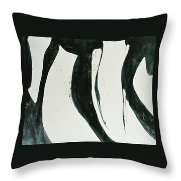 Thrust Throw Pillow by Mary Sullivan