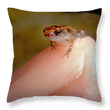 Thumb Nail Frog Throw Pillow