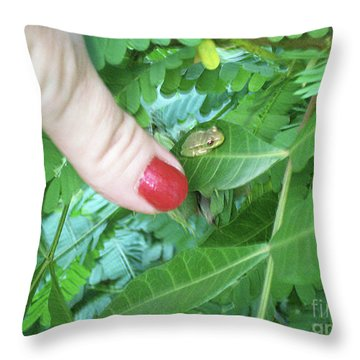 Throw Pillow featuring the photograph Thumb Sized by Megan Dirsa-DuBois