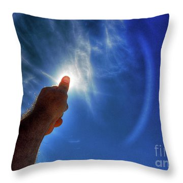 Thumb To The Sky Throw Pillow