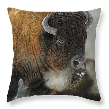 Thunder Beast Throw Pillow