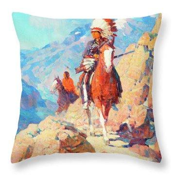 Thunder Bird Throw Pillow