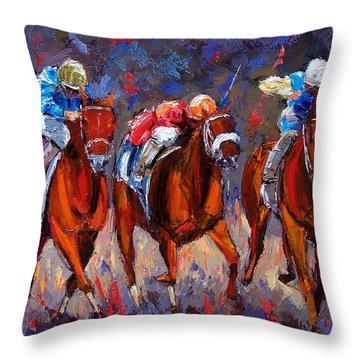 Thunder Throw Pillow by Debra Hurd