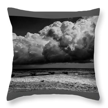 Throw Pillow featuring the photograph Thunder Head By The Sea by Louis Dallara