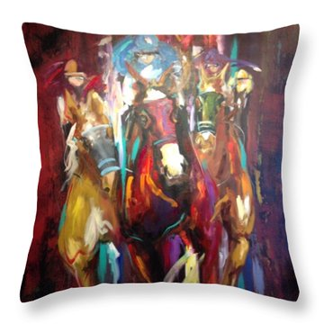 Thunder  Throw Pillow by Heather Roddy