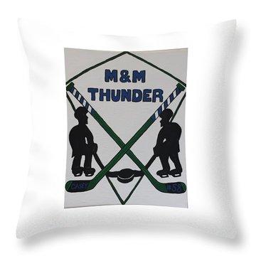 Thunder Hockey Throw Pillow