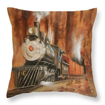 Thunder In Cathedral Canyon Throw Pillow by Christopher Jenkins
