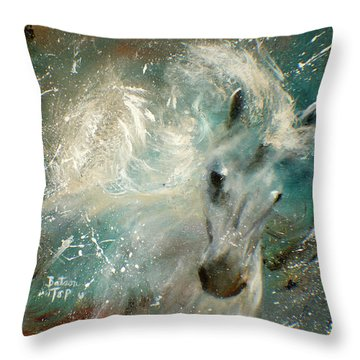 Poseiden's Thunder Throw Pillow