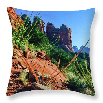 Thunder Mountain 07-006 Throw Pillow by Scott McAllister