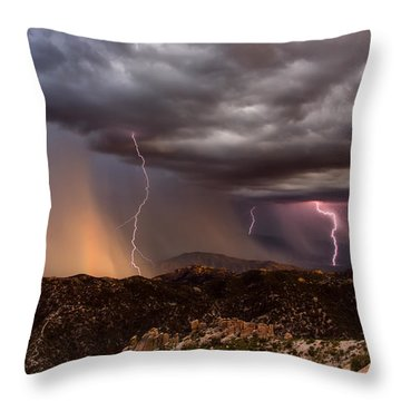 Thunder Mountain Throw Pillow