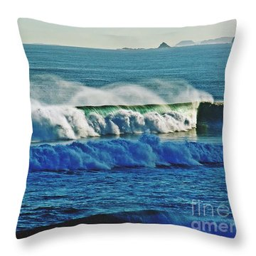 Thunder Of The Waves Throw Pillow