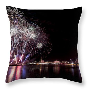 Thunder Over Louisville Throw Pillow