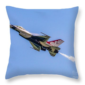 Throw Pillow featuring the photograph Thunderbird #5 by Nick Zelinsky