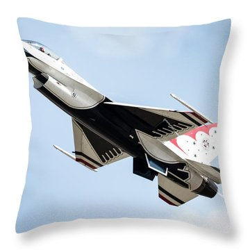 Thunderbird Throw Pillow by Lawrence Burry