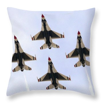 Thunderbirds Away Throw Pillow