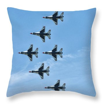 Throw Pillow featuring the photograph Thunderbirds by Linda Constant