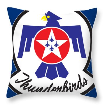 Thunderbirds Logo Throw Pillow