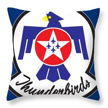 Thunderbirds Logo Throw Pillow