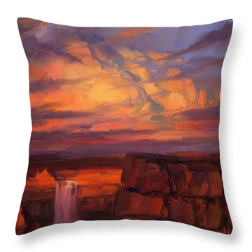 Thundercloud Over The Palouse Throw Pillow