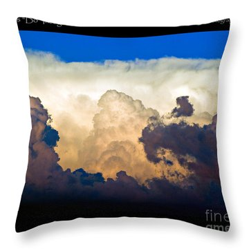 Thunderhead Cloud Color Poster Print Throw Pillow by James BO  Insogna
