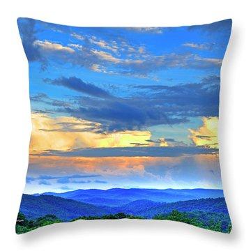 Thunderheads Throw Pillow by Dale R Carlson
